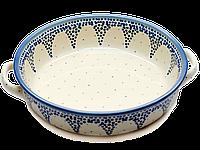 Круглая керамическая форма для выпечки и запекания с ручками 24 Ocean Breeze, фото 1