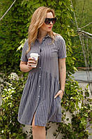 Красивое  Платье-рубашка    С,М,Л    Цвета -  на фото, фото 1
