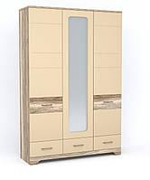 Шафа розпашна H 3Д3Ш в спальню Mulatto Дуб Каньйон / Сахара Глянець Blonski