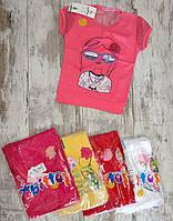 """Футболка детская """"Girl"""" для девочек. Возраст 1-2-3-4 года (86-92-98-104 см). Один цвет в упаковке. Оптом"""