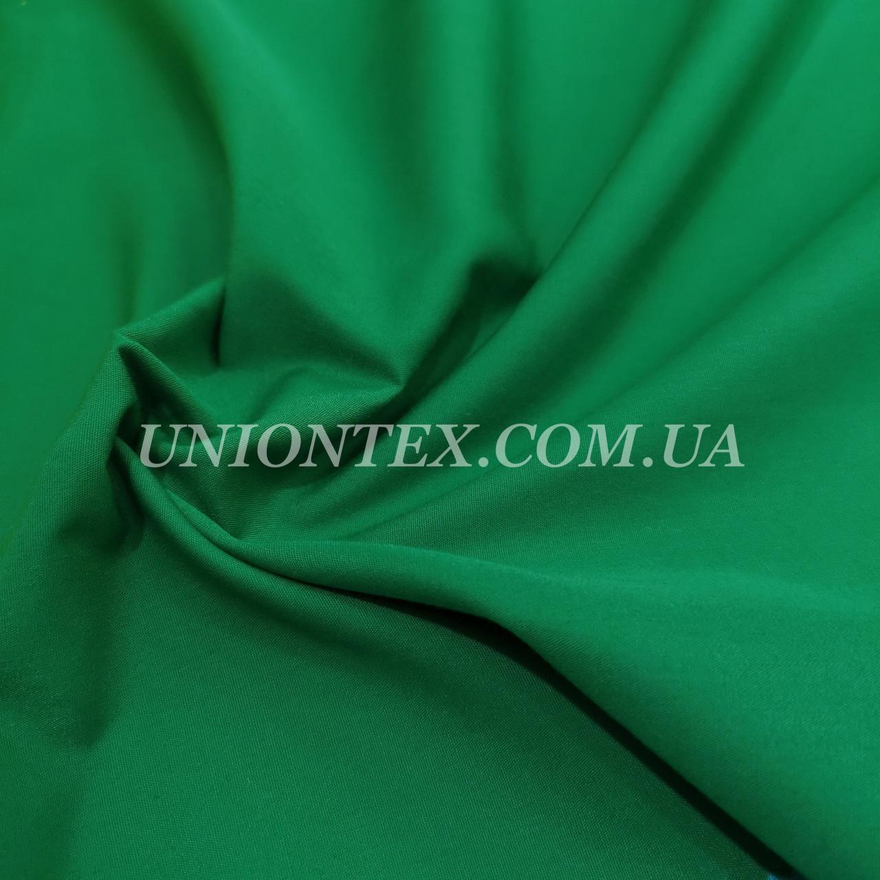 Рубашечная ткань зеленая