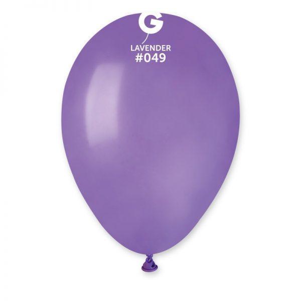 Воздушные шары  лаванда пастель   100 штук ( Италия ) 21 см