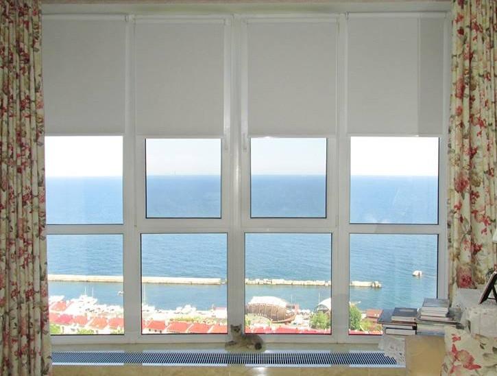 Тканевые ролеты на окно UNI