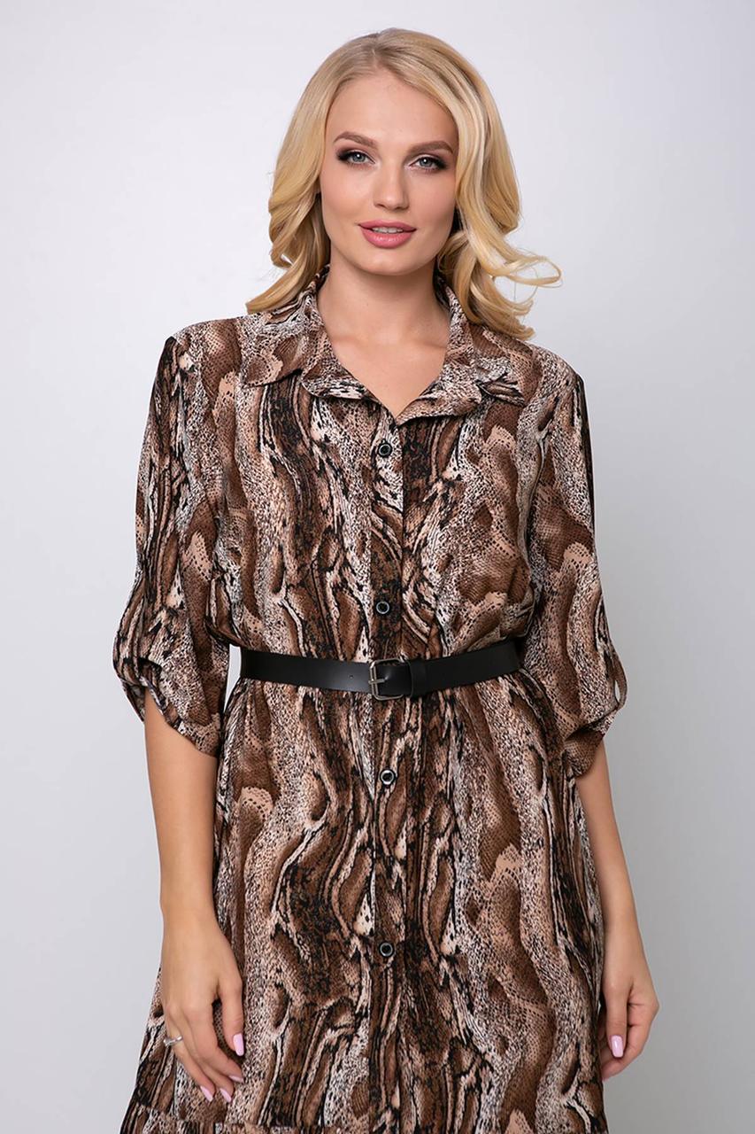 Ботальное платье-рубашка с 54 по 60 размер