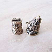 """Навершие и гарда из бронзы для шампура """"Кабан"""""""