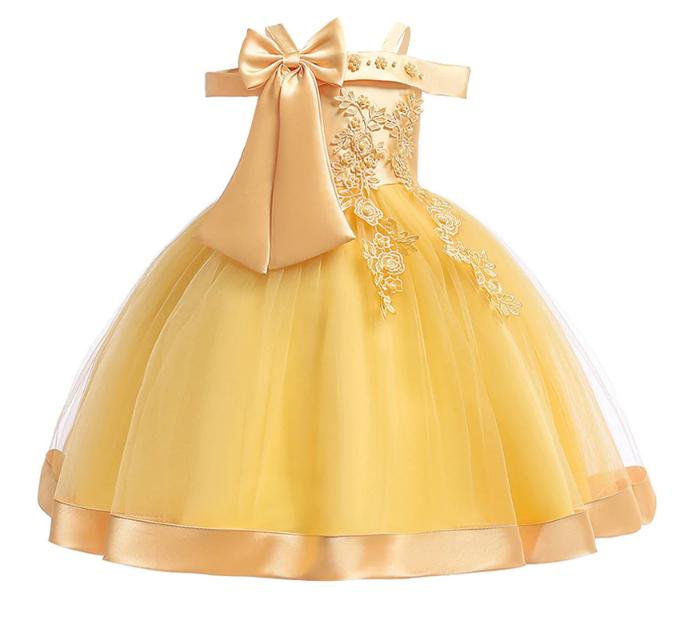 Платье золотое нарядное для девочки