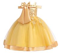 Платье золотое нарядное для девочки , фото 1