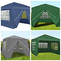 АКЦІЯ Павильон садовый 3х3 м, шатер, палатка торговая, альтанка. Польша  Біла, синя, зелена