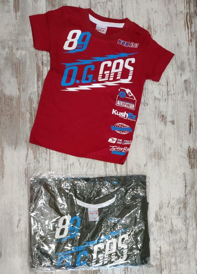 """Футболка детская """"Gas"""" для мальчиков. Возраст 1-2-3-4 года (86-92-98-104 см). Один цвет в упаковке. Оптом"""