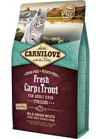 CARNILOVE (КАРНИЛАВ) FRESH CARP & TROUT STERILISED CATS - БЕЗЗЕРНОВОЙ КОРМ ДЛЯ СТЕРИЛИЗ. КОШЕКИ КОТОВ,0,4 кг