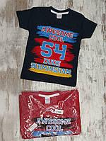 """Футболка детская """"Cool"""" для мальчиков. Возраст 1-2-3-4 года (86-92-98-104 см). Один цвет в упаковке. Оптом"""