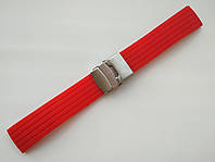 Каучуковый ремешок для часов. Красный. 22 мм, фото 1