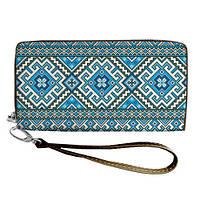Большой женский текстильный кошелек с украинским орнаментом. 2 цвета!, фото 1