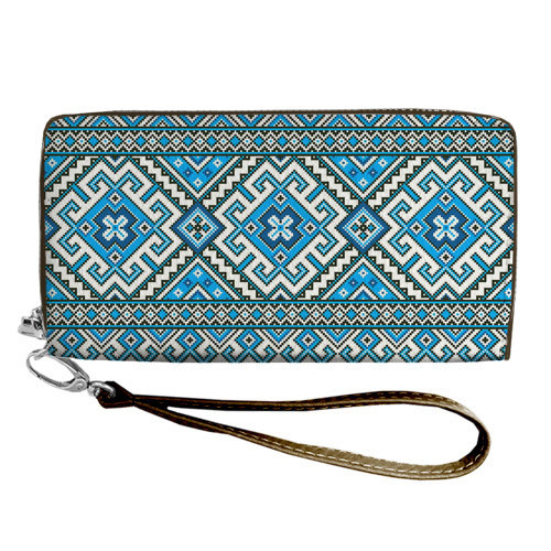447758221f0f8 Большой женский текстильный кошелек с украинским орнаментом. 2 цвета ...