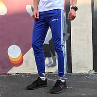 Спортивные штаны в стиле Adidas Strip синие, фото 1
