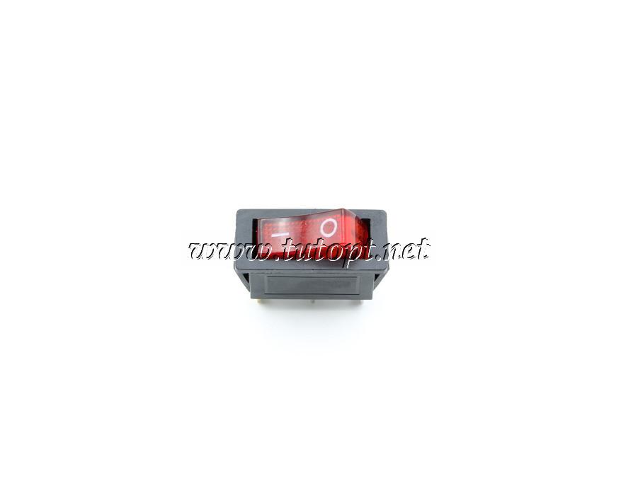 Тумблер IRS-101-1A PRK0005 клавишный узкий с подсветкой 220V Красный