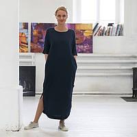 Платье из льна макси свободный силуэт, фото 1