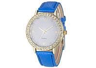 Наручные женские часы с синим ремешком код 202