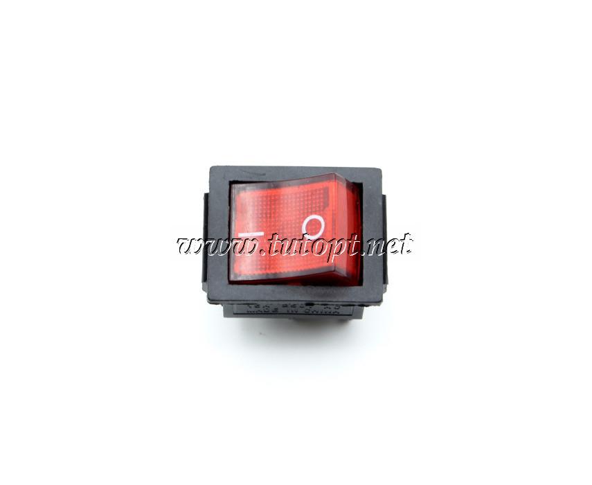 Тумблер IRS-201-1A PRK0006B клавишный широкий Красный