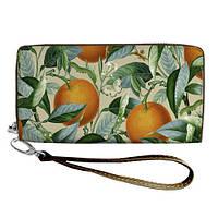 Женский яркий текстильный кошелек с апельсинами. 2 цвета!, фото 1