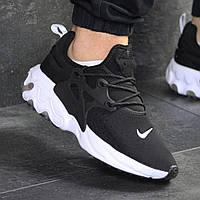 Мужские кроссовки демисезонные Nike 7973 Черные с белым , фото 1
