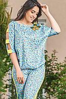Женский костюм большого размера Likara / стрейч-котон / Украина 32-851, фото 1