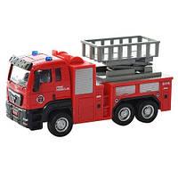 Коллекционная металлическая инерционная модель (детская машинка) - Пожарная машина, LH505