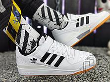 Мужские кеды Adidas Originals Forum Low Black/White-Gum G25813, фото 2