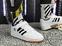 Мужские кеды Adidas Originals Forum Low Black/White-Gum G25813, фото 3