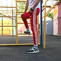 Спортивные штаны в стиле Adidas Strip красный, фото 1