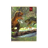 """Блокнот В6, 48 л., крупная клетка, конгрев, """"Динозавры"""" 1B1009"""
