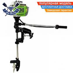 Бензиновый лодочный мотор VORSKLA ПМЗ 5252 двухтактный подвесной, 2,6 кВт, 3,53 л.с.