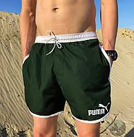 Плавальні шорти чоловічі стильні літні Puma, колір зелений, фото 1