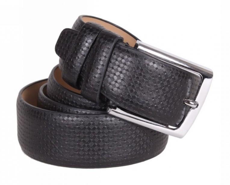 Ремень мужской черный из эко-кожи BR-S 120 см 972809026