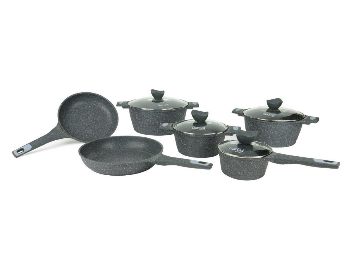 Набор кухонной посуды Oscar Cook T3173 с керамическим покрытием 12 элементов кастрюли, сковорода, сотейник