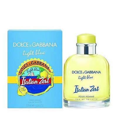 Туалетная вода мужская Dolce Gabbana Light Blue Italian Zest Pour Homme 125ml (копия) - Мужская парфюмерия, фото 2