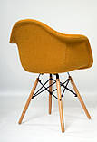Кресло Leon Шерсть, желтое, фото 7