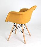Кресло Leon Шерсть, желтое, фото 3