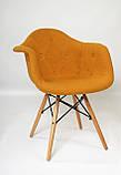 Кресло Leon Шерсть, желтое, фото 8