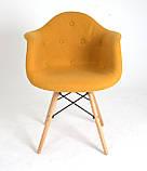 Кресло Leon Шерсть, желтое, фото 6