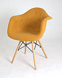 Кресло Leon Шерсть, желтое, фото 4