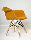 Кресло Leon Шерсть, желтое, фото 9