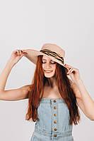 Шляпа широкополая Альда пудровая