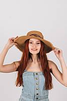 Шляпа широкополая Альда капучиновая
