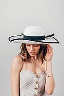 Шляпа широкополая Чико белая