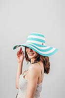 Шляпа широкополая Фарлей голубая