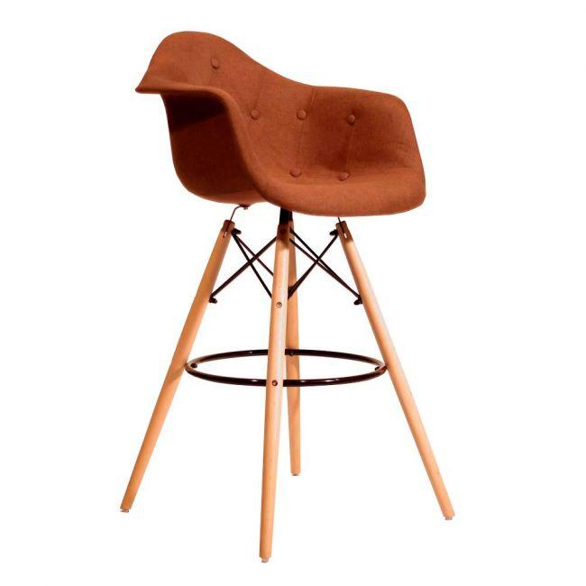Полубарное крісло Leon Віскоза, коричневе