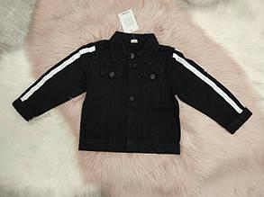 Курточка детская джинсовая черная унисекс 2-6 лет , фото 2