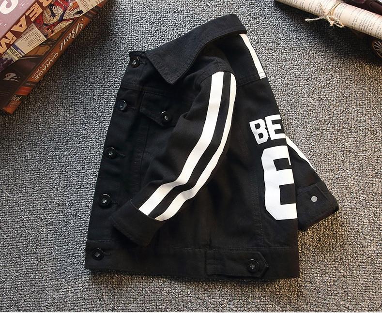Курточка детская джинсовая черная унисекс 2-6 лет