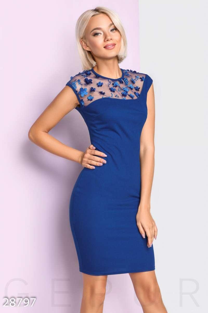 506098e16ff377f Декорированное женское платье - Интернет-магазин одежды ТОПШОП в Мариуполе